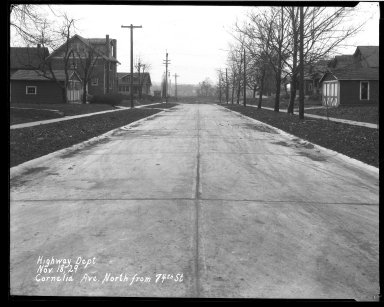 Street Improvement Photographs -- Box 33, Folder 20 (Cornelia Avenue) -- negative, 1929-11-18