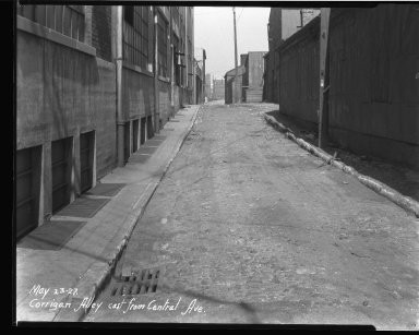 Street Improvement Photographs -- Box 33, Folder 21 (Corrigan Alley) -- negative, 1927-05-23