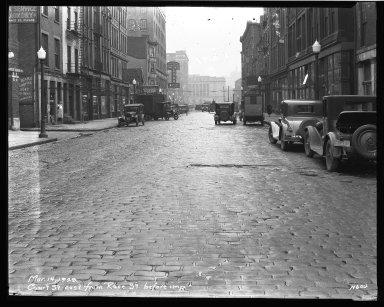 Street Improvement Photographs -- Box 33, Folder 24 (Court Street) -- negative, 1928-03-14