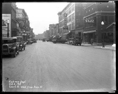 Street Improvement Photographs -- Box 33, Folder 25 (Court Street) -- negative, 1929-10-03