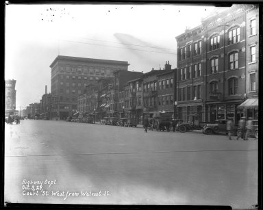 Street Improvement Photographs -- Box 33, Folder 25 (Court Street) -- negative, 1929-10-03