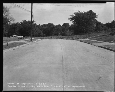 Street Improvement Photographs -- Box 33, Folder 27 (Covedale Avenue) -- negative, 1953-06-22