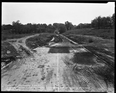 Street Improvement Photographs -- Box 33, Folder 27 (Covedale Avenue) -- negative, 1952-09-24