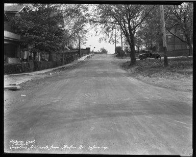 Street Improvement Photographs -- Box 33, Folder 29 (Crestline Avenue) -- negative, 1931-04-30