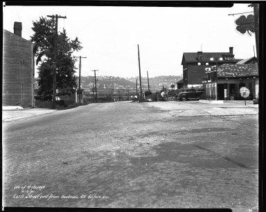 Street Improvement Photographs -- Box 33, Folder 34 (Carll Street) -- negative, 1935-06-13