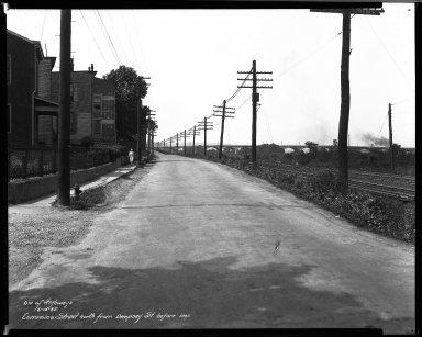 Street Improvement Photographs -- Box 33, Folder 35 (Cummins Street) -- negative, 1935-06-13