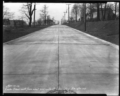 Street Improvement Photographs -- Box 33, Folder 37 (Custer Avenue) -- negative, 1928-03-14