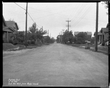 Street Improvement Photographs -- Box 33, Folder 39 (Dale Raod) -- negative, 1932-06-30