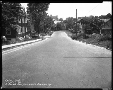 Street Improvement Photographs -- Box 33, Folder 41 (East Daniels Street) -- negative, 1930-08-19