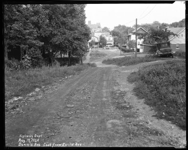 Street Improvement Photographs -- Box 33, Folder 41 (East Daniels Street) -- negative, 1929-08-19