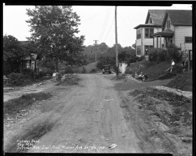 Street Improvement Photographs -- Box 33, Folder 45 (Davoran Avenue) -- negative, 1930-05-20