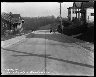 Street Improvement Photographs -- Box 33, Folder 45 (Davoran Avenue) -- negative, 1931-02-24