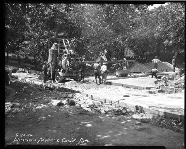 Street Improvement Photographs -- Box 33, Folder 46 (Daytona Avenue) -- negative, 1926-06-24
