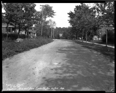 Street Improvement Photographs -- Box 33, Folder 46 (Daytona Avenue) -- negative, 1930-08-25