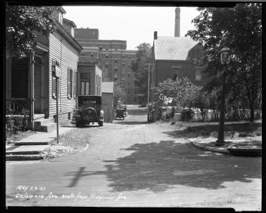Street Improvement Photographs -- Box 33, Folder 47 (Delaware Avenue) -- negative, 1927-05-23