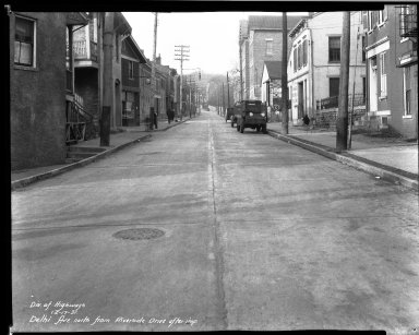 Street Improvement Photographs -- Box 33, Folder 48 (Delhi Avenue) -- negative, 1931-12-17