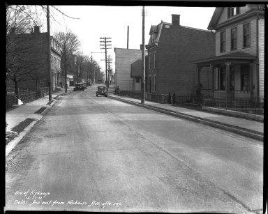 Street Improvement Photographs -- Box 33, Folder 48 (Delhi Avenue) -- negative, 1931-12-17
