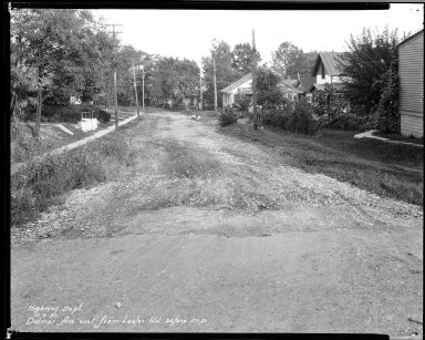 Street Improvement Photographs -- Box 33, Folder 49 (Delmar Avenue) -- negative, 1930-10-09