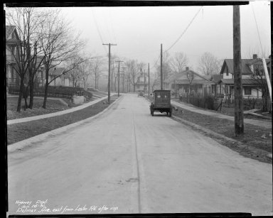 Street Improvement Photographs -- Box 33, Folder 49 (Delmar Avenue) -- negative, 1931-01-25