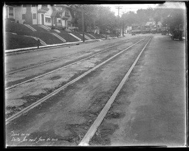 Street Improvement Photographs -- Box 33, Folder 50 (Delta Avenue) -- negative, 1928-06-20