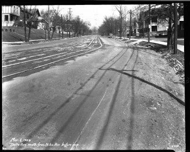 Street Improvement Photographs -- Box 33, Folder 51 (Delta Avenue) -- negative, 1929-03-06