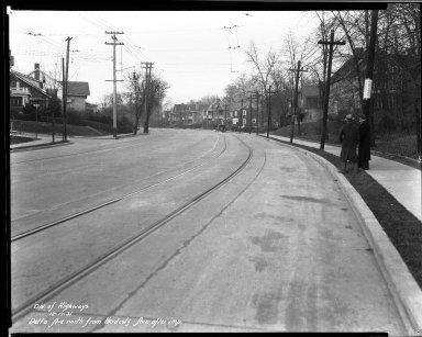 Street Improvement Photographs -- Box 33, Folder 54 (Delta Avenue) -- negative, 1931-12-17