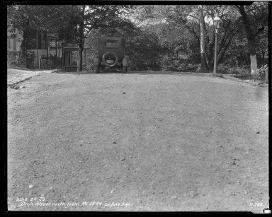 Street Improvement Photographs -- Box 34, Folder 03 (Dick Street) -- negative, 1929-06-24