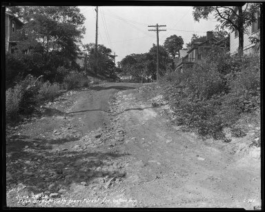 Street Improvement Photographs -- Box 34, Folder 03 (Dick Street) -- negative, 1929-06-24