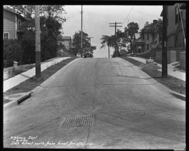 Street Improvement Photographs -- Box 34, Folder 03 (Dick Street) -- negative, 1930-08-04