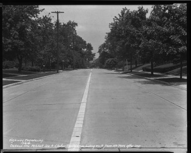 Street Improvement Photographs -- Box 34, Folder 04 (Dickson Avenue) -- negative, 1941-07-08