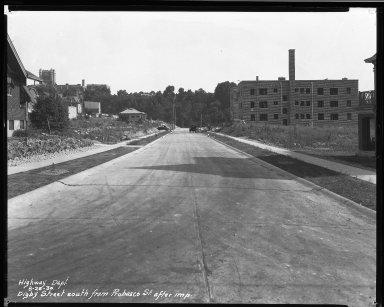 Street Improvement Photographs -- Box 34, Folder 05 (Digby Avenue) -- negative, 1930-08-25