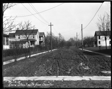 Street Improvement Photographs -- Box 34, Folder 08 (Dora Street) -- negative, 1927-03-16