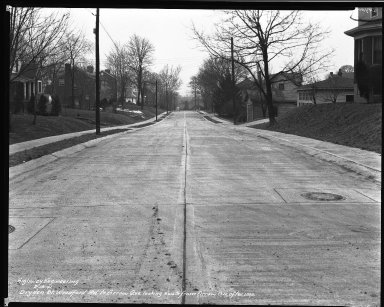 Street Improvement Photographs -- Box 34, Folder 11 (Dryden Street) -- negative, 1941-02-14