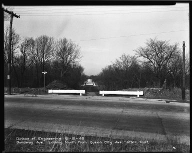 Street Improvement Photographs -- Box 34, Folder 12 (Dunaway Avenue) -- negative, 1948-12-16