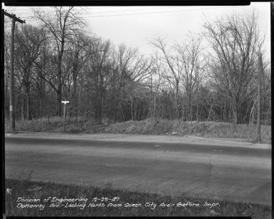 Street Improvement Photographs -- Box 34, Folder 12 (Dunaway Avenue) -- negative, 1947-12-29