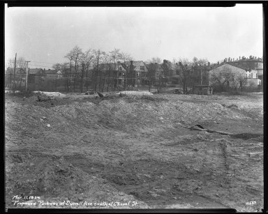 Street Improvement Photographs -- Box 34, Folder 14 (Victory Parkway) -- negative, 1929-03-11