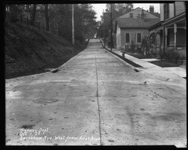 Street Improvement Photographs -- Box 34, Folder 15 (Earnshaw Avenue) -- negative, 1929-03-08