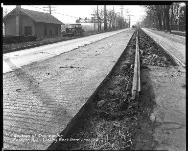 Street Improvement Photographs -- Box 34, Folder 19 (Eastern Avenue) -- negative, 1931