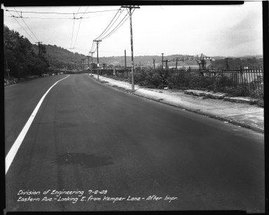 Street Improvement Photographs -- Box 34, Folder 20 (Eastern Avenue) -- negative, 1948-07-06