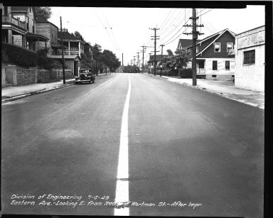 Street Improvement Photographs -- Box 34, Folder 20 (Eastern Avenue) -- negative, 1948-07-06