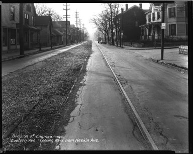 Street Improvement Photographs -- Box 34, Folder 20 (Eastern Avenue) -- negative, 1948