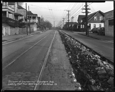 Street Improvement Photographs -- Box 34, Folder 21 (Eastern Avenue) -- negative, 1948