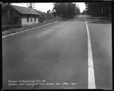 Street Improvement Photographs -- Box 34, Folder 21 (Eastern Avenue) -- negative, 1948-07-06
