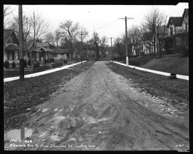 Street Improvement Photographs -- Box 34, Folder 26 (Ebersole Avenue) -- negative, 1929-03-17