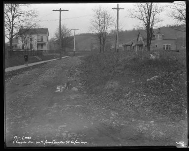 Street Improvement Photographs -- Box 34, Folder 26 (Ebersole Avenue) -- negative, 1929-03-06