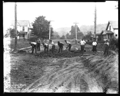 Street Improvement Photographs -- Box 34, Folder 26 (Ebersole Avenue) -- negative, 1929-08-10
