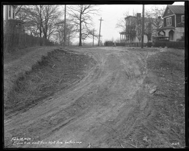 Street Improvement Photographs -- Box 34, Folder 28 (Edna Avenue) -- negative, 1929-02-18