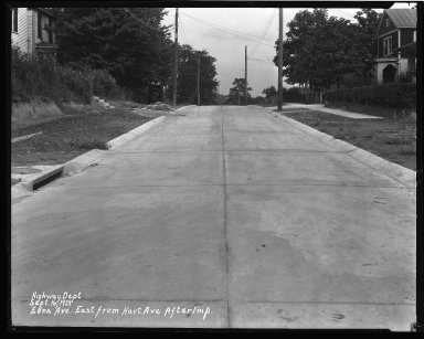 Street Improvement Photographs -- Box 34, Folder 28 (Edna Avenue) -- negative, 1929-09-16