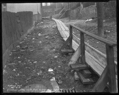 Street Improvement Photographs -- Box 34, Folder 30 (Eichelman Alley) -- negative, 1931-03-16