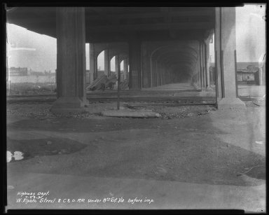 Street Improvement Photographs -- Box 34, Folder 32 (Eighth Street) -- negative, 1931-07-23